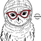 Hipster Owl by AthenaVictoria
