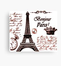 FROM PARIS WIT LOVE   Canvas Print