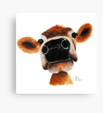 JERSEY CoW PRiNT ' JeRSeY JoY ' BY SHiRLeY MacARTHuR  Canvas Print