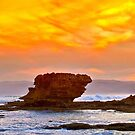 1687 Aireys Inlet sunset by Hans Kawitzki