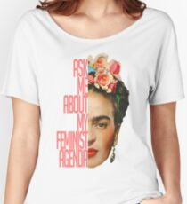 Ask me about my feminist agenda T-shirts coupe relax