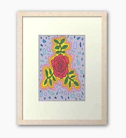 1706 - Mystique Rose In Open Mode Gerahmtes Wandbild