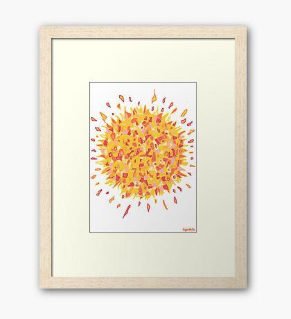 1709 - Burning Sun In Yellow Gerahmtes Wandbild