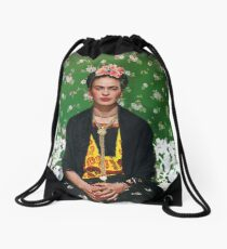 Frida Kahlo Vouge Cover poster high quality Drawstring Bag