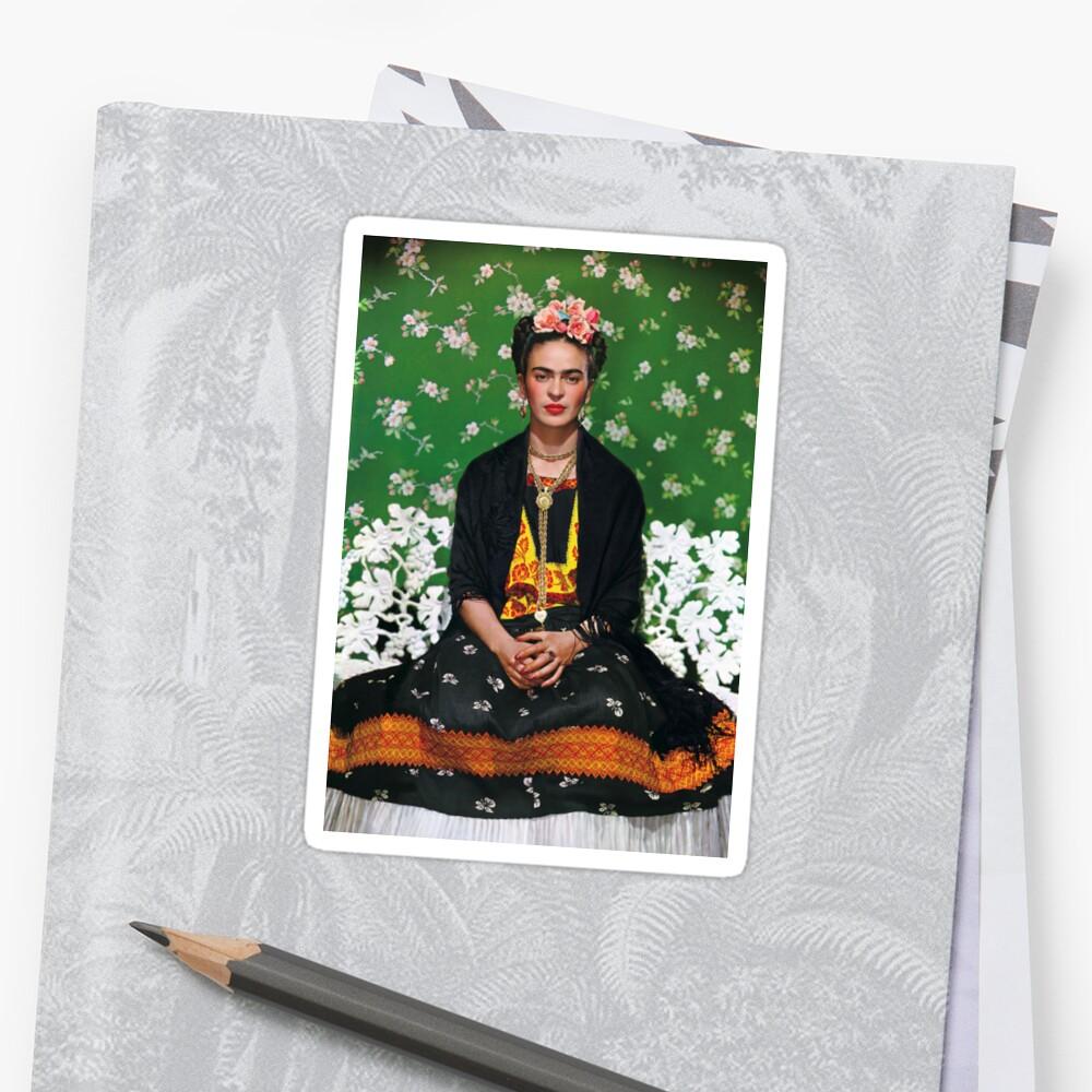 Frida Kahlo Vouge Cover-Poster von hoher Qualität Sticker