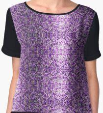 Knitted Purple Pattern Women's Chiffon Top