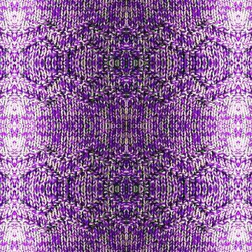 Knitted Purple Pattern by Feraloidies
