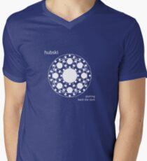 Fractubski White 1 Men's V-Neck T-Shirt