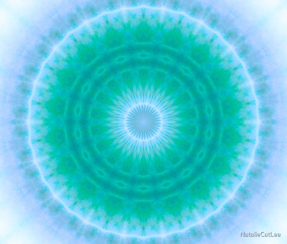 Chakra Energy 2 (green & blue) by NatalieCatLee
