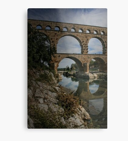 The Pont du Gard Metal Print