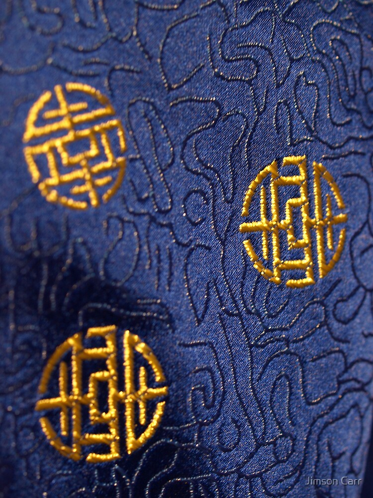 Bhutanese Woman's Robe (Detail) by Jimson Carr