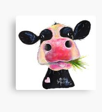 NOSEY COW 'HURLEY BURLEY' Canvas Print