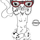Hipster Ostrich by AthenaVictoria