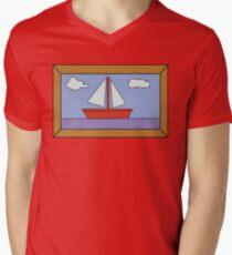 Sail Boat Artwork Men's V-Neck T-Shirt