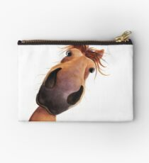 HORSE PRiNT 'MAD MAX' BY SHiRLeY MacARTHuR Studio Pouch