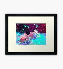 Swimming in a cosmic dream Framed Print