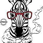 Hipster Zebra by AthenaVictoria