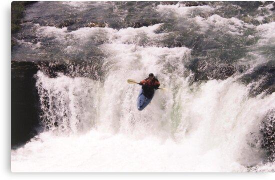 Kayak Leap II by Al Bourassa