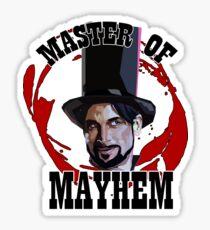 Master Of Mayhem. Julian Slink. Blood Drive Sticker