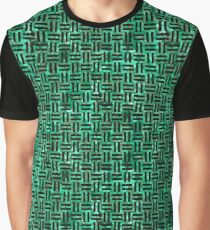 WOVEN1 BLACK MARBLE AND GREEN MARBLE (R) Graphic T-Shirt
