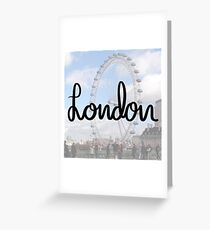 London in calligraphy Greeting Card