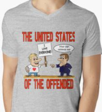 The United States of the Offended Men's V-Neck T-Shirt