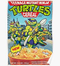 TMNT cereal Poster