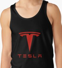 Tesla Red Logo Tank Top