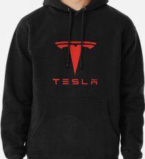 Tesla rotes Logo Hoodie
