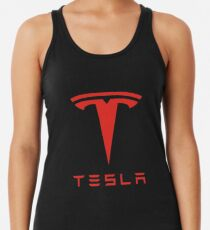 Tesla Red Logo Women's Tank Top