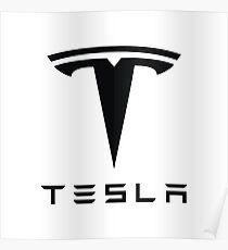 Tesla Black Logo Poster
