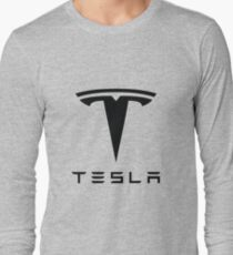 Tesla Black Logo Long Sleeve T-Shirt
