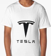Tesla Black Logo Long T-Shirt