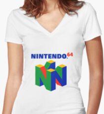 Nintendo 64 Merchandise Women's Fitted V-Neck T-Shirt