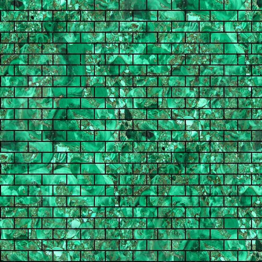 BRICK1 BLACK MARBLE AND GREEN MARBLE (R) by johnhunternance