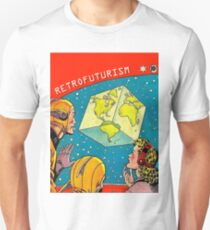 Earth became a cube, vintage sci-fi comics cover T-Shirt