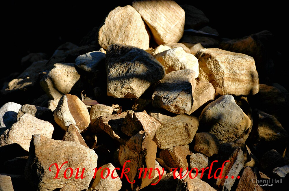 YOU ROCK MY WORLD... by Cheryl Hall