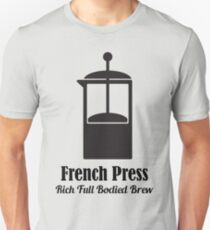 French Press Cold Brew Coffee Plunger love quotes Unisex T-Shirt