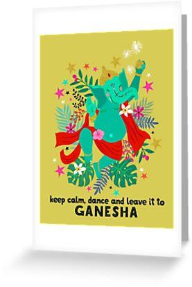 Dancing ganesh greeting cards by elisandra sevenstar redbubble dancing ganesh by elisandra sevenstar m4hsunfo