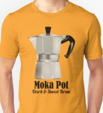 Moka Pot Stovetop Espresso Mokka Coffee love quotes T-Shirt