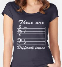 13 8 6 4 these are difficult times Women's Fitted Scoop T-Shirt