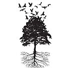 Tree & Birds by Rae Cooper