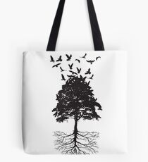 Tree & Birds Tote Bag
