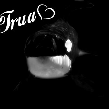 Trua- Black and White w/ Name by TruaBelieve