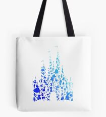 Blue Character Castle Inspired Silhouette Tote Bag