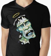 Saint Frankenstein Men's V-Neck T-Shirt