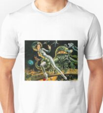 Attack of a green monster, science fiction vintage poster T-Shirt