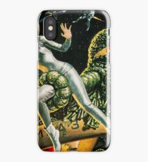 Attack of a green monster, science fiction vintage poster iPhone Case/Skin