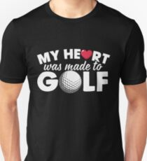 My heart - golf Unisex T-Shirt