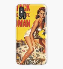 Attack of a 50 ft woman, science fiction, horror, vintage movie poster iPhone Case/Skin